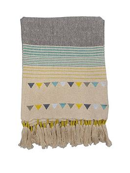 gallery-lagom-gala-throw-in-teal-and-ochre-130-x-170-cm