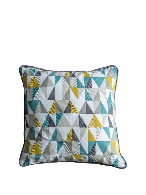 gallery-lagom-scandi-triangle-cushion-teal-and-ochre