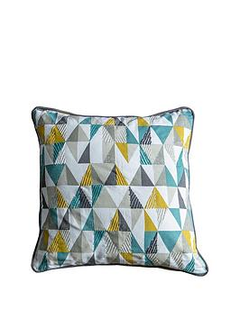 Gallery Gallery Lagom Scandi Triangle Cushion - Teal And Ochre Picture