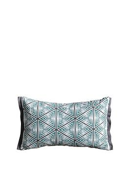 Gallery Gallery Lagom Hugi Geo Print Cushion - Duck Egg Picture
