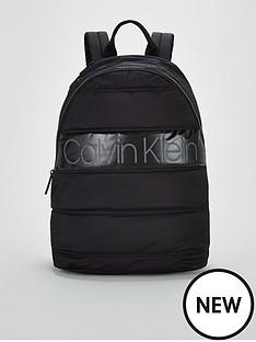 calvin-klein-padded-round-backpack-black