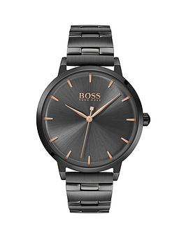 Boss Boss Boss Grey Sunray And Carnation Gold Detail Dial Gunmetal  ... Picture