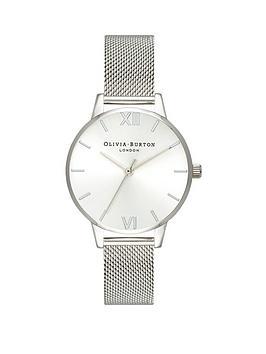 olivia-burton-olivia-burton-silver-sunray-dial-silver-stainless-steel-mesh-strap-ladies-watch