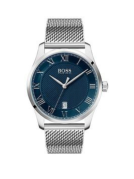 Boss Boss Boss Master Blue Textured And Silver Detail Date Dial Stainless  ... Picture