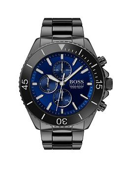 Boss Boss Boss Ocean Edition Blue Sunray Chronograph Dial Black Ip  ... Picture