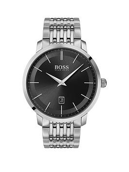 Boss Boss Boss Classic Black Sunray Date Dial Stainless Steel Bracelet  ... Picture
