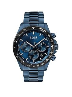 boss-boss-hero-sport-lux-blue-sunray-chronograph-dial-blue-ip-stainless-steel-bracelet-mens-watch