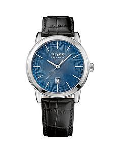 boss-boss-blue-sunray-date-dial-black-leather-strap-mens-watch-and-cufflink-gift-set