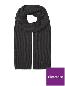 tommy-hilfiger-pima-cotton-scarf-dark-grey