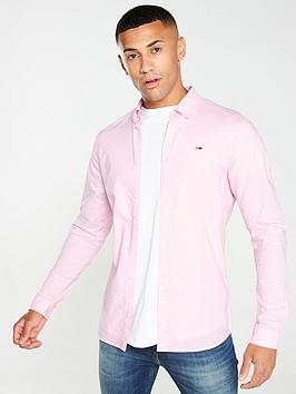 Tommy Jeans Tommy Jeans Long Sleeved Stretch Oxford Shirt - Pink Picture