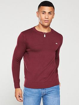 tommy-jeans-classics-crew-neck-jumper-burgundy