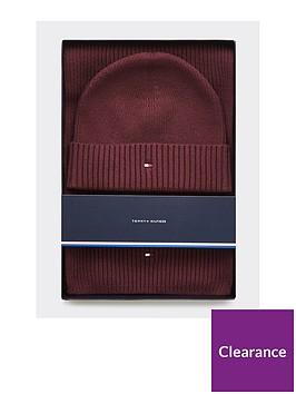 tommy-hilfiger-pima-cotton-scarf-amp-beanie-gift-set-burgundy