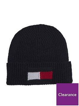 tommy-hilfiger-big-flag-beanie-black