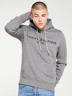 tommy-hilfiger-logo-hoodie-silver-fog