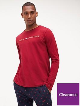 tommy-hilfiger-long-sleeved-logo-t-shirt-rhubarb