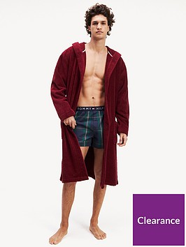 tommy-hilfiger-hooded-towelling-robe-burgundy