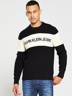 calvin-klein-jeans-colour-block-logo-jumper-black