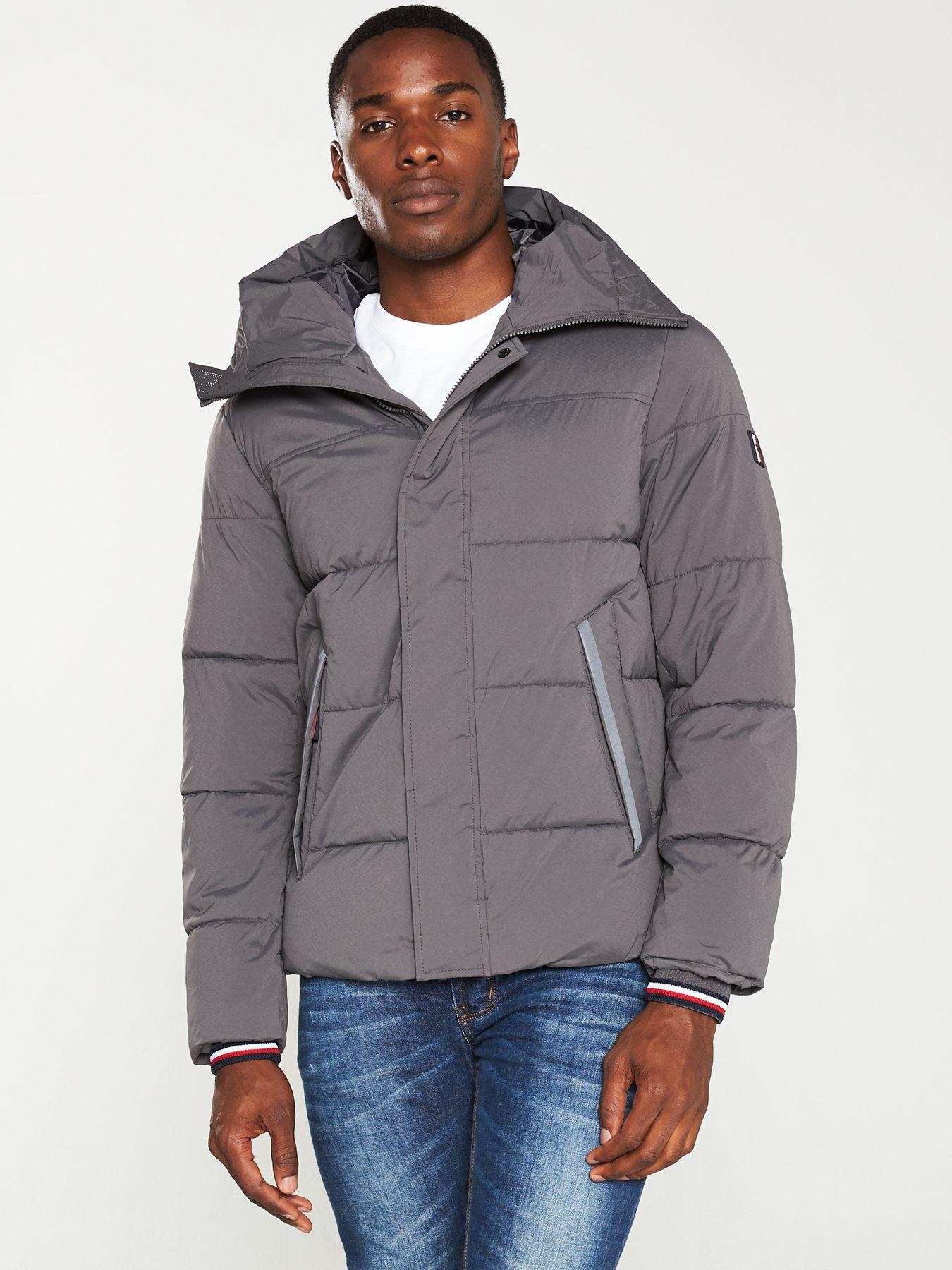 Tommy Hilfiger Stretch Nylon Hooded Bomber Blouson Homme
