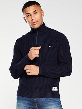 tommy-jeans-zip-neck-jumper-navy
