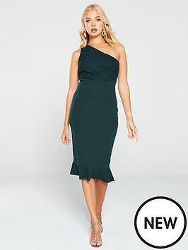 ax-paris-one-shoulder-lace-dress-green
