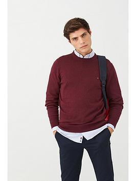 tommy-hilfiger-cotton-cashmere-crew-neck-jumper-maroon