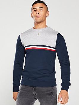 tommy-hilfiger-colour-block-sweatshirt-navygrey