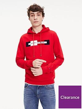tommy-hilfiger-logo-hoodie-red