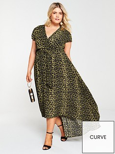 ax-paris-curve-dip-hem-leopard-dress--nbspgreen