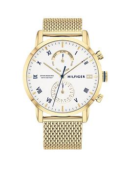 Tommy Hilfiger Tommy Hilfiger Tommy Hilfiger Kane White Sunray Dial Gold  ... Picture