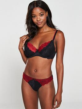 Pour Moi Pour Moi Allure Underwired Bra - Black Red Picture