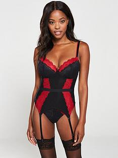 pour-moi-allure-underwired-basque-black-red