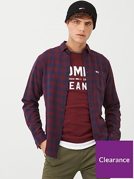 tommy-jeans-sustainable-gingham-long-sleeve-shirt-burgundy