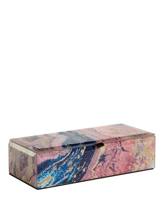 Marble Effect Glass Jewellery Box by