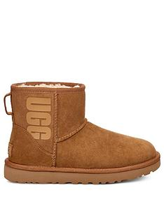 ugg-classic-mini-rubber-logo-ankle-boots-chestnut