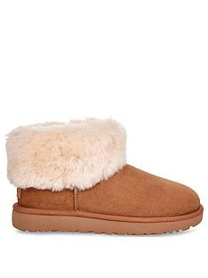 ugg-classic-mini-fluff-ankle-boots-chestnut