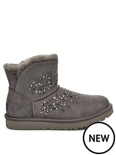 ugg-classic-galaxy-bling-mini-ankle-boots-charcoal