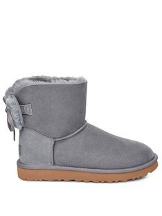 ugg-classic-double-bow-mini-ankle-boots-grey