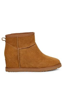 Ugg Ugg Classic Femme Hidden Wedge Mini Ankle Boots - Chestnut Picture