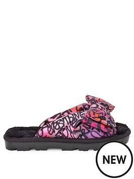 10e201ee178 Lushette Pop Graffiti Padded Slippers - Multi
