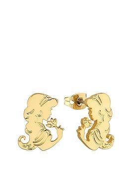 disney-disney-aladdin-14k-gold-plated-princess-jasmine-stud-earrings