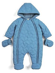 mamas-papas-baby-boys-quilted-pram-suit-blue