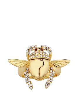 Disney Disney Disney Aladdin 14K Gold Plated Opening Crystal Scarab Beetle  ... Picture