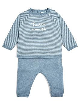 mamas-papas-baby-boys-hello-world-knitted-outfit-blue