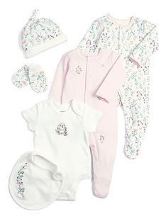 mamas-papas-baby-girls-6-piece-layette-gift-set-pink