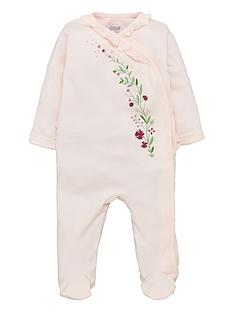 mamas-papas-baby-girls-floral-frill-single-sleepsuit-pink