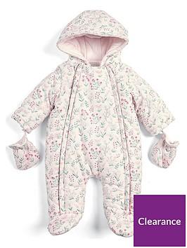 mamas-papas-baby-girls-floral-pramsuit-pink