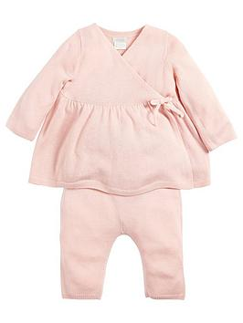 mamas-papas-baby-girls-knitted-outfit-pink