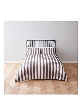 river-island-grey-stripe-print-duvet-cover-set