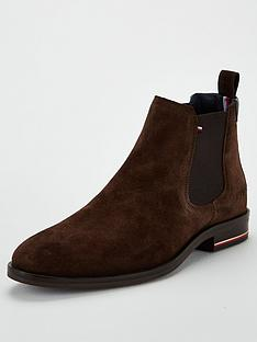 tommy-hilfiger-signature-hilfiger-suede-chelsea-boots-brown