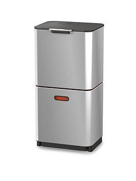 joseph-joseph-totem-max-60-litre-waste-separation-bin-ndash-stainless-steel